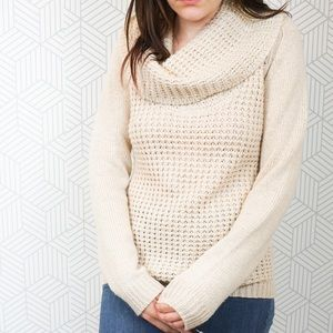 Angel Of the north Cowl Neck Chunky Sweater small